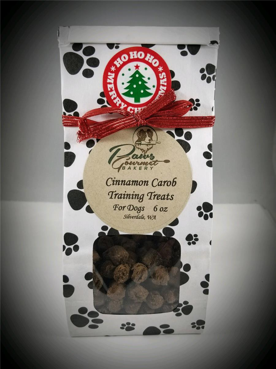 Cinnamon Carob Training Treats - 6 oz Gift Bag