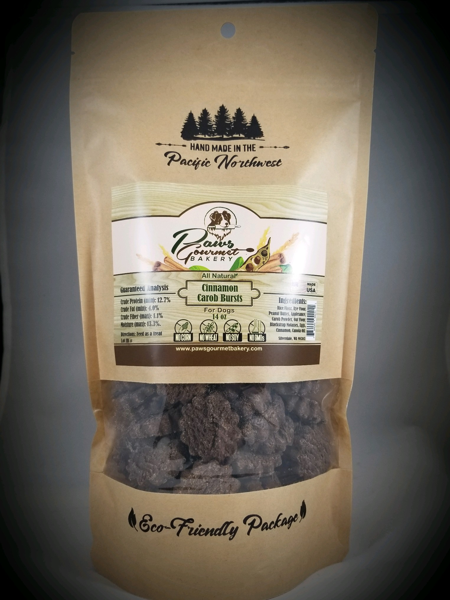Cinnamon Carob Bursts 14 oz pouch